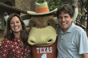 Holly Engleman and Ted Keyser with Hook 'Em