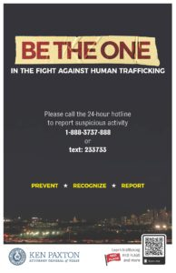 Be the one against Human Trafficking